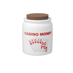 Casino Money Jar Candy Dishes at Zazzle