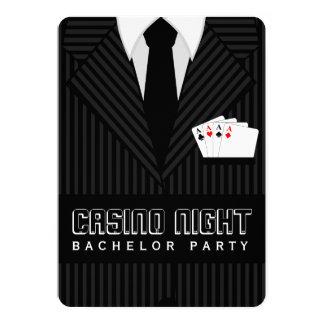 "Casino Night Bachelor Party Custom Invitation 5"" X 7"" Invitation Card"