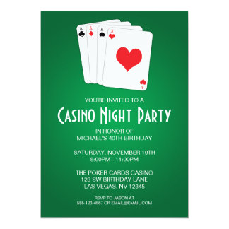 Casino Night Birthday Party Card