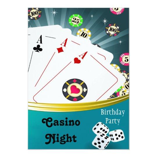 casino party invite zazzle