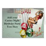 Casino Night Birthday Party Invitations Cards