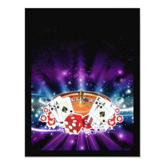 """Casino night invitation 4.25"""" x 5.5"""" invitation card"""