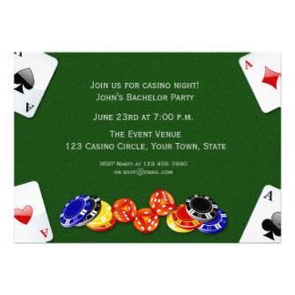 Casino Night Personalized Invitation