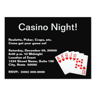 Casino Night Invitations