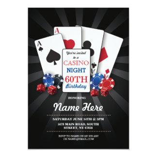 Casino Night Las Vegas Birthday Invitation Party