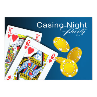 Casino Night Las Vegas Poker Party - blue Card