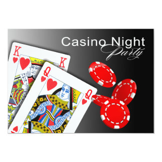 Casino Night Las Vegas Poker Party - red Card