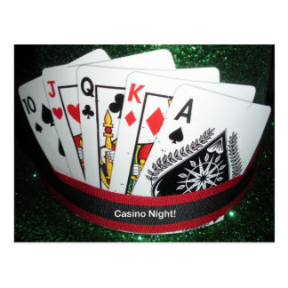 Casino Night Party Card Postcard