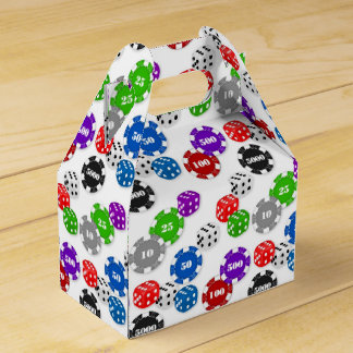 Casino Night party gable favor box