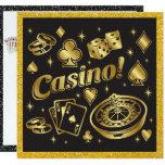 Hand shaped Casino Night Party Invitation