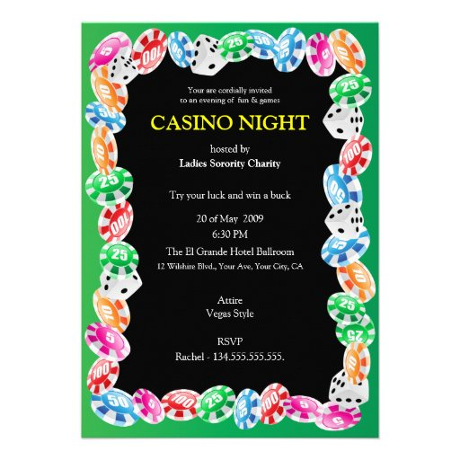 free casino night invitation template