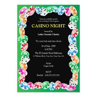 Casino Night Party Invitation Template
