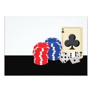 """Casino Night Party Invitations 5"""" X 7"""" Invitation Card"""