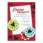 Casino Night Party Invitations