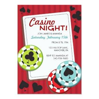 Casino Night Party Invitations