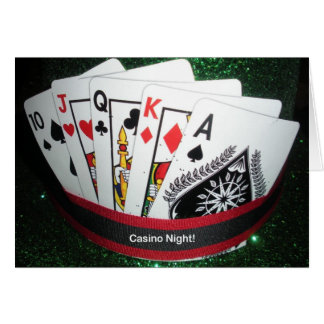 Casino Night Party Postcard Greeting Card