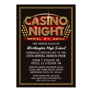 Casino Party Invitations Announcements Zazzle