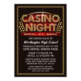 casino theme party invitations zazzle