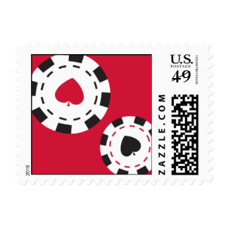 Casino Night Postage Stamps