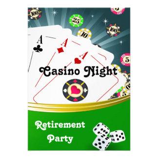 Casino Night Retirement Party Invitations Invitation
