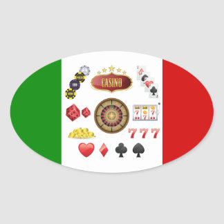 Casino Oval Sticker
