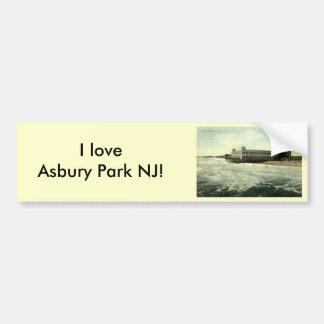 Casino, parque NJ 1910 de Asbury Pegatina Para Auto