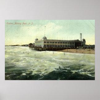 Casino, parque NJ 1910 de Asbury Póster
