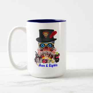 Casino Party Any Event Aces and Eights View Notes Two-Tone Coffee Mug