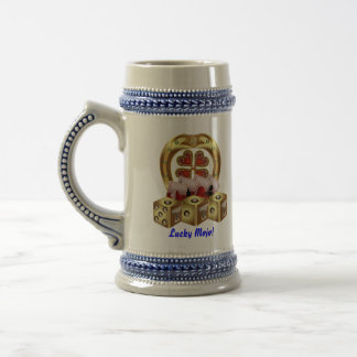 Casino Party  Dual Logo Lucky Mojo View Notes Beer Stein