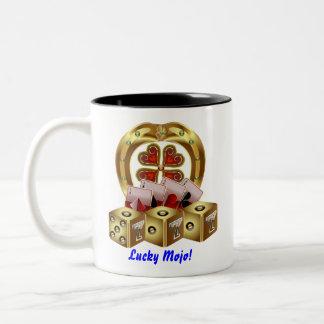 Casino Party  Dual Logo Lucky Mojo View Notes Two-Tone Coffee Mug