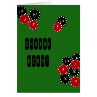 Casino Party Greeting Card