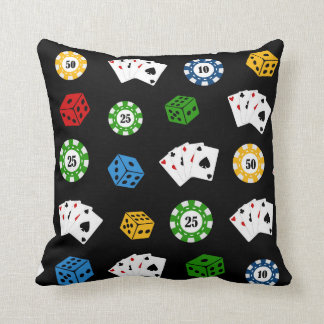 Casino pattern mix match game room pillow