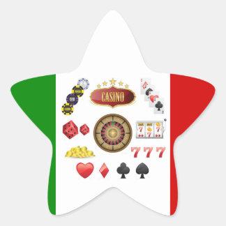 Casino Pegatina En Forma De Estrella
