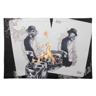 Casino Play Fire Dice Cloth Placemat