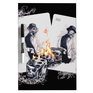 Casino Play Fire Dice Dry-Erase Board