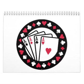 Casino poker aces wall calendar