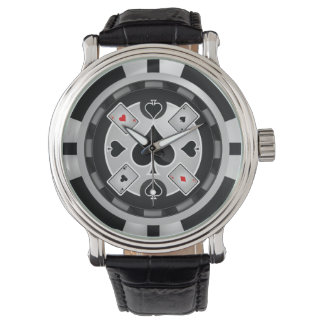 Casino Poker Chip Wall Clock Watch