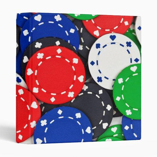 Casino poker chips 3 ring binder