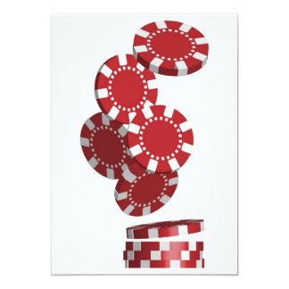 Casino / Poker Chips 5x7 Paper Invitation Card
