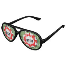 Casino Poker Chips Aviator Sunglasses