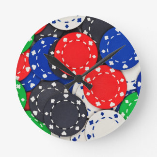 Casino poker chips wall clocks