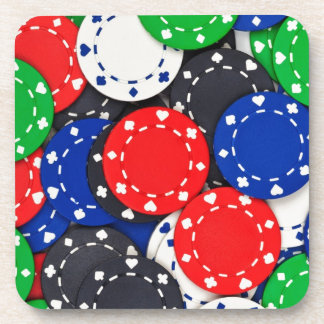 Casino poker chips drink coasters