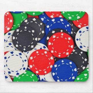 Casino poker chips mouse pad