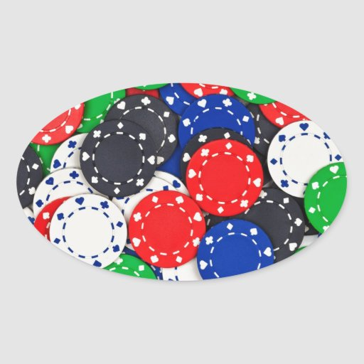 Poker chip value stickers