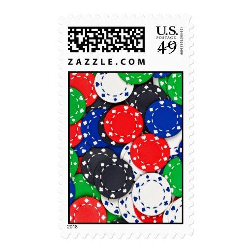 Casino poker chips postage