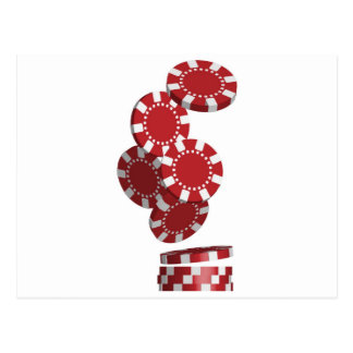 Casino / Poker Chips Postcard