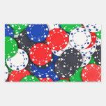 Casino poker chips rectangle sticker