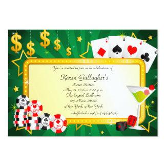 Casino Poker Las Vegas Sweet 16 Invitation