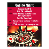 Casino Invitations Announcements Zazzle