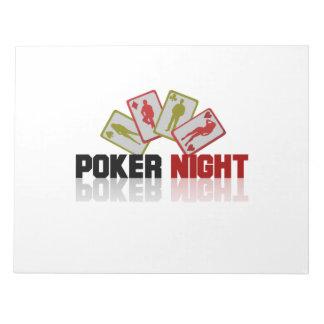 Casino Poker Notepad